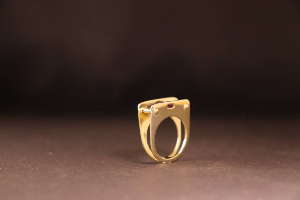 Ring STIJL-breed, goud-4