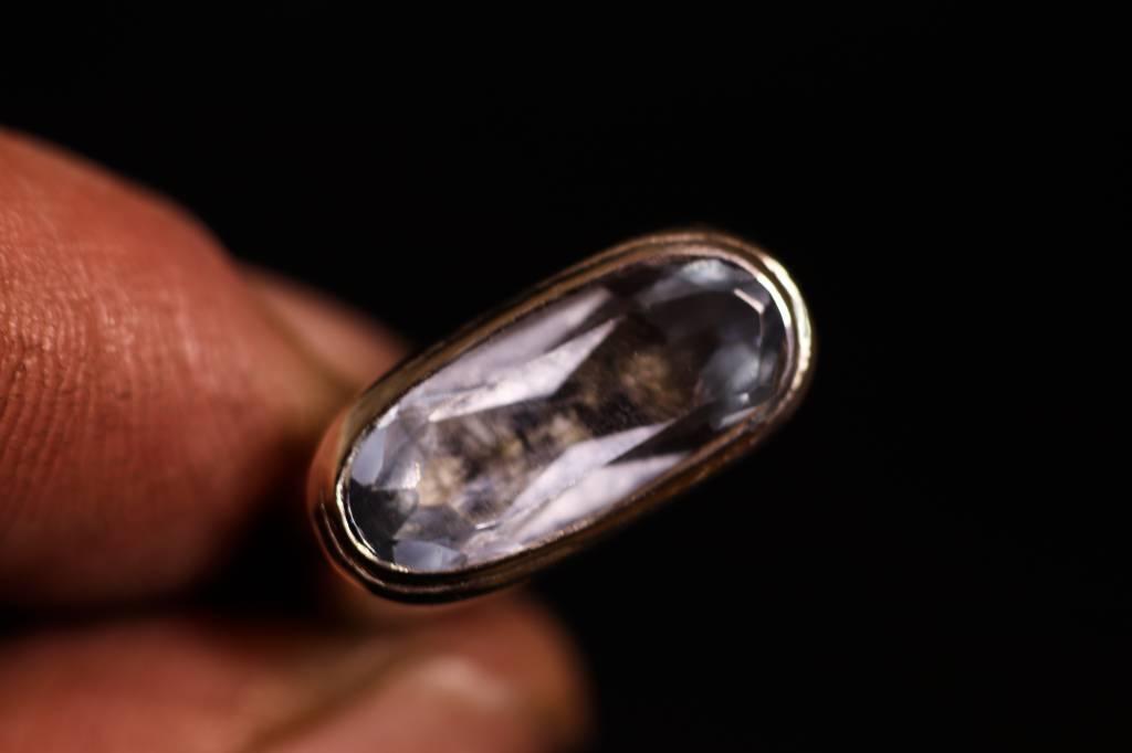 Zilveren (as)ring GEM - Aquamarijn-1
