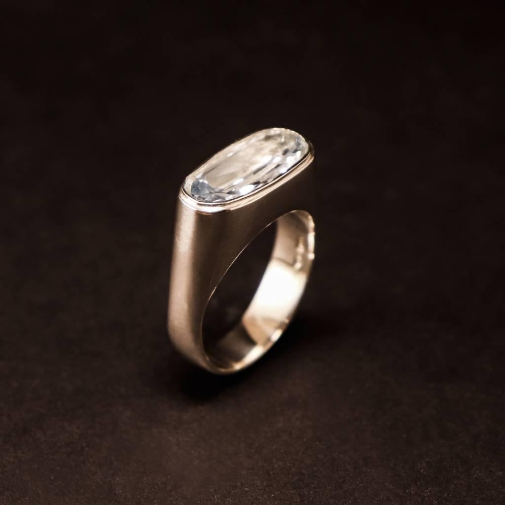 Zilveren (as)ring GEM - Aquamarijn-2