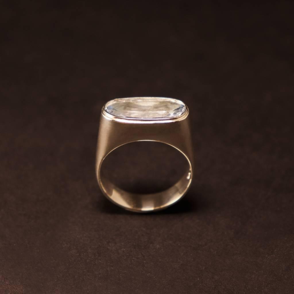 Zilveren (as)ring GEM - Aquamarijn-5