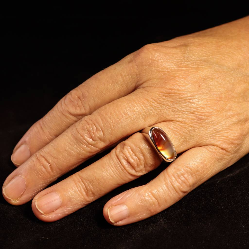 (As)ring  GEM, goud met Carneool-4