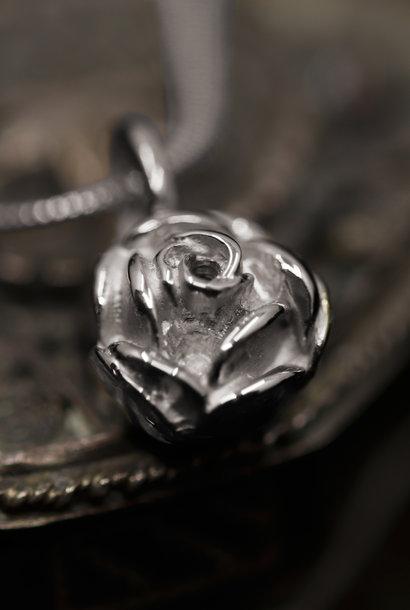 Zilveren  hanger ROSE