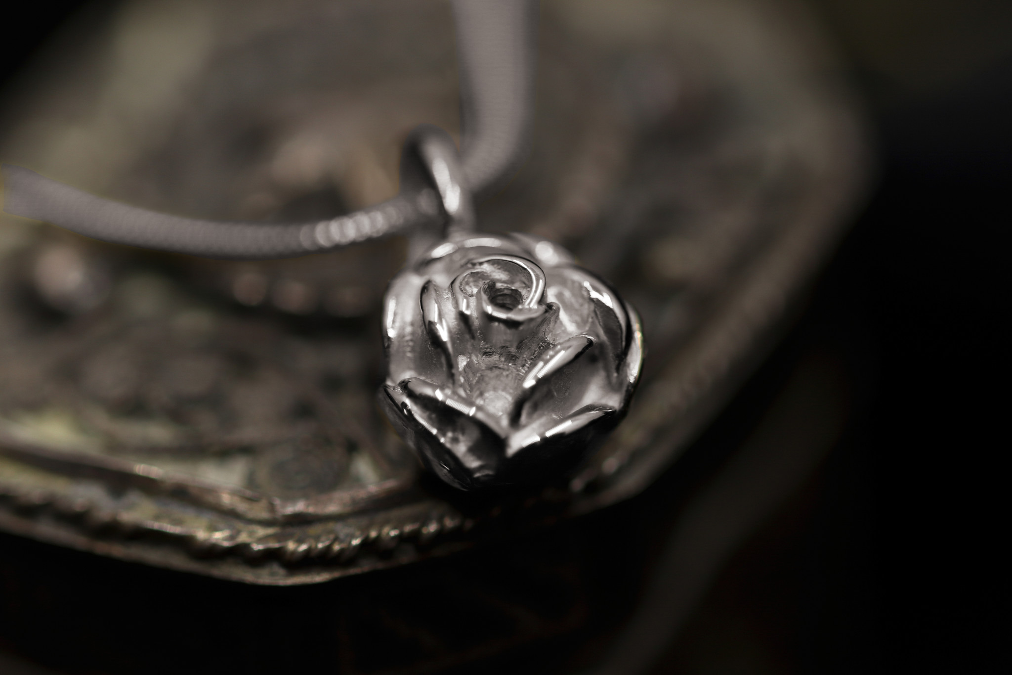 Hanger ROSE, zilver-1