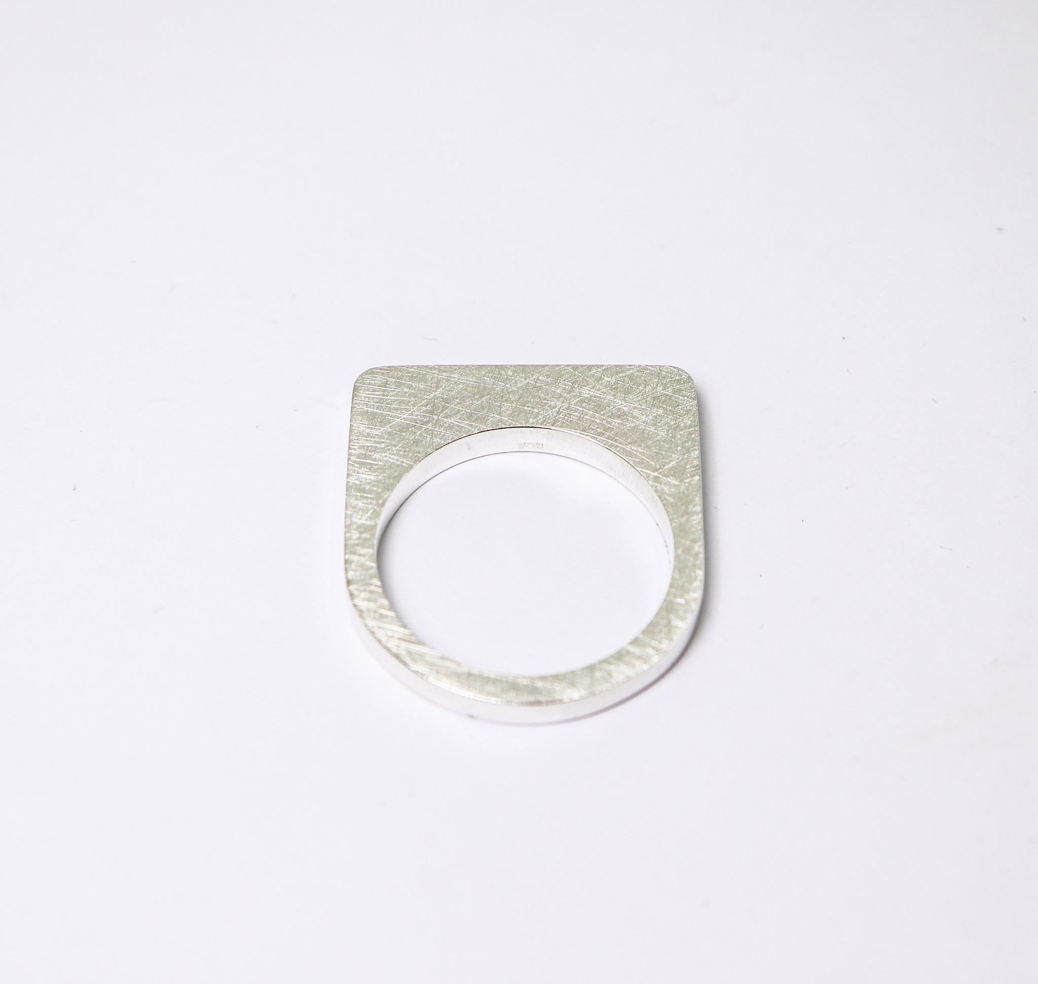 Ring SOBER, zilver-3