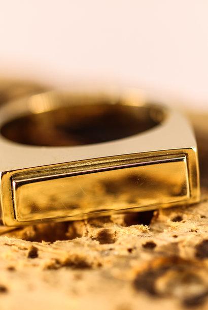 14K Gouden heren asring QUARTRO