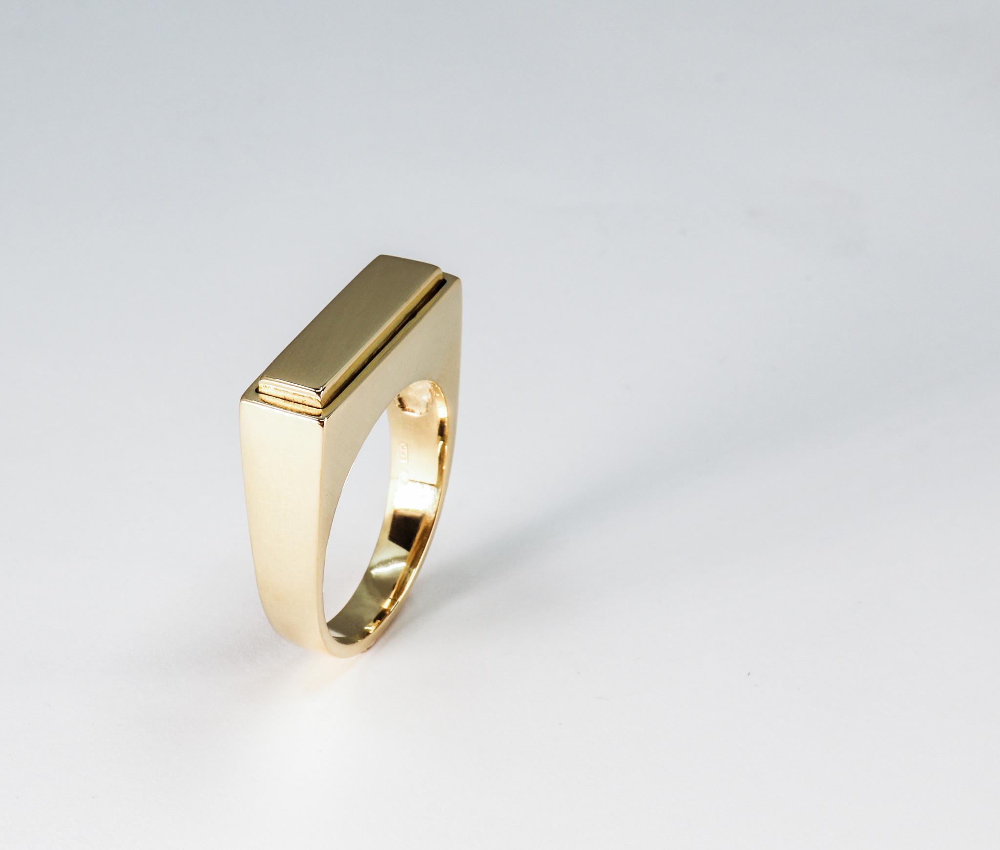 (As)ring QUARTRO, goud-4