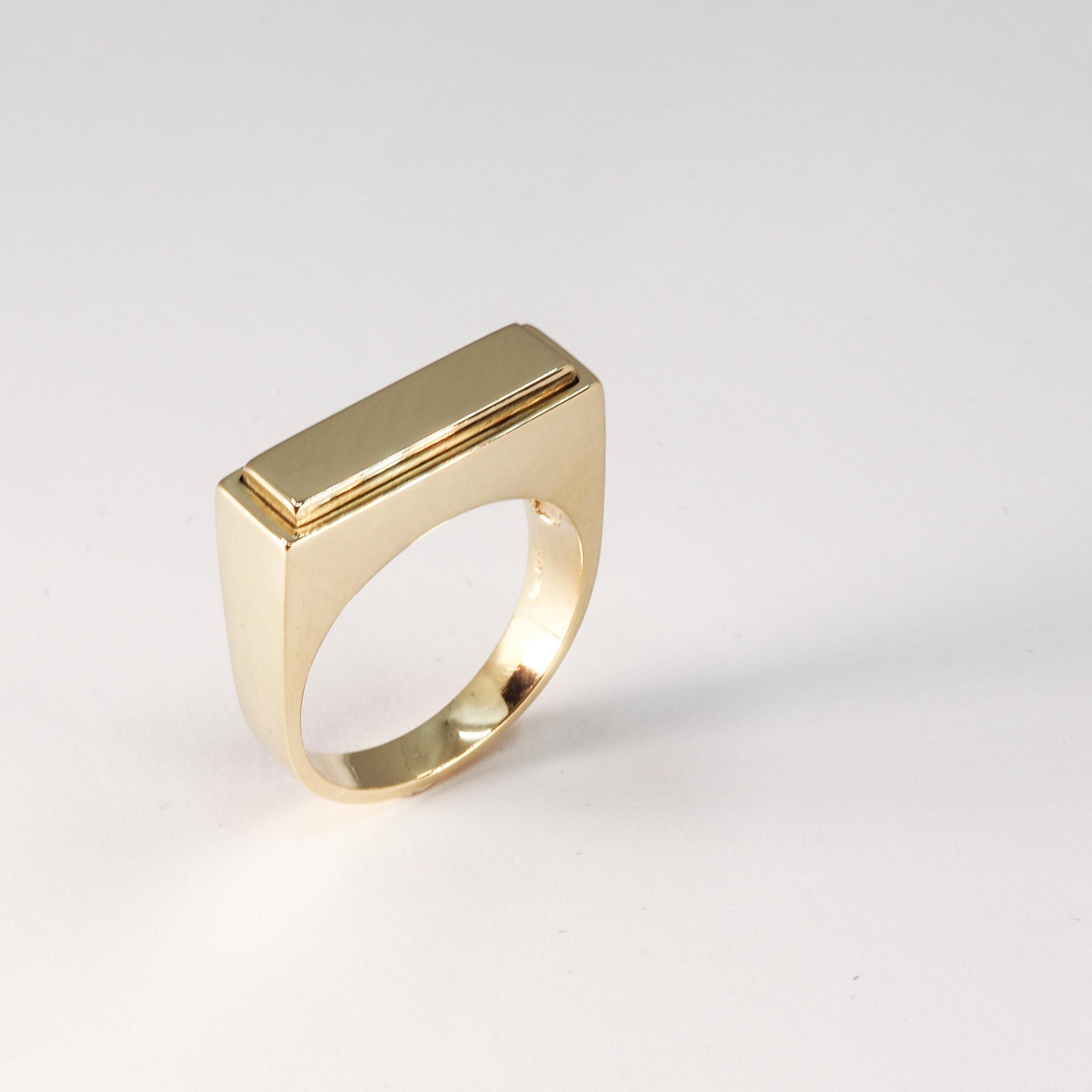 (As)ring QUART, goud-3