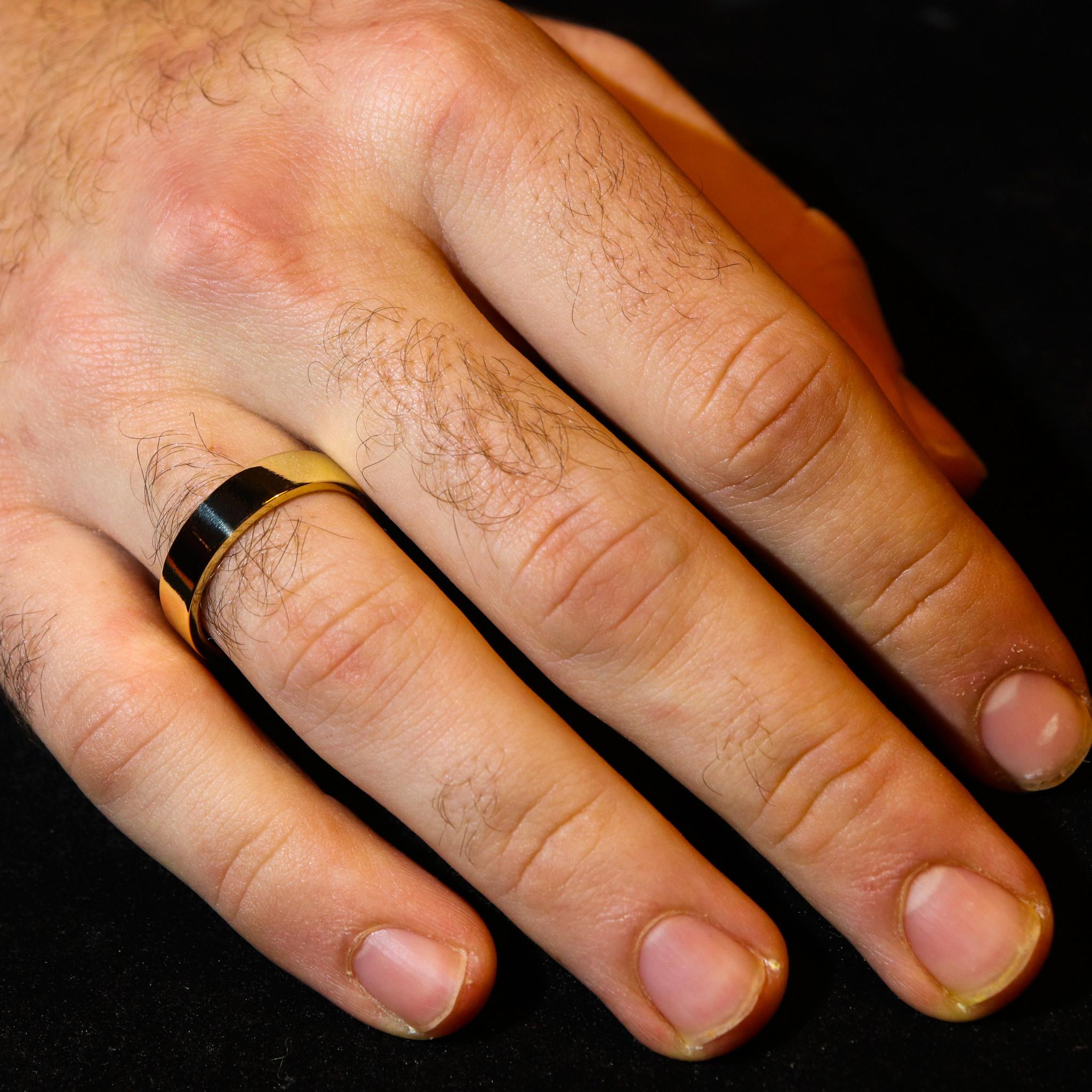 14K Gouden ring VLAK-5