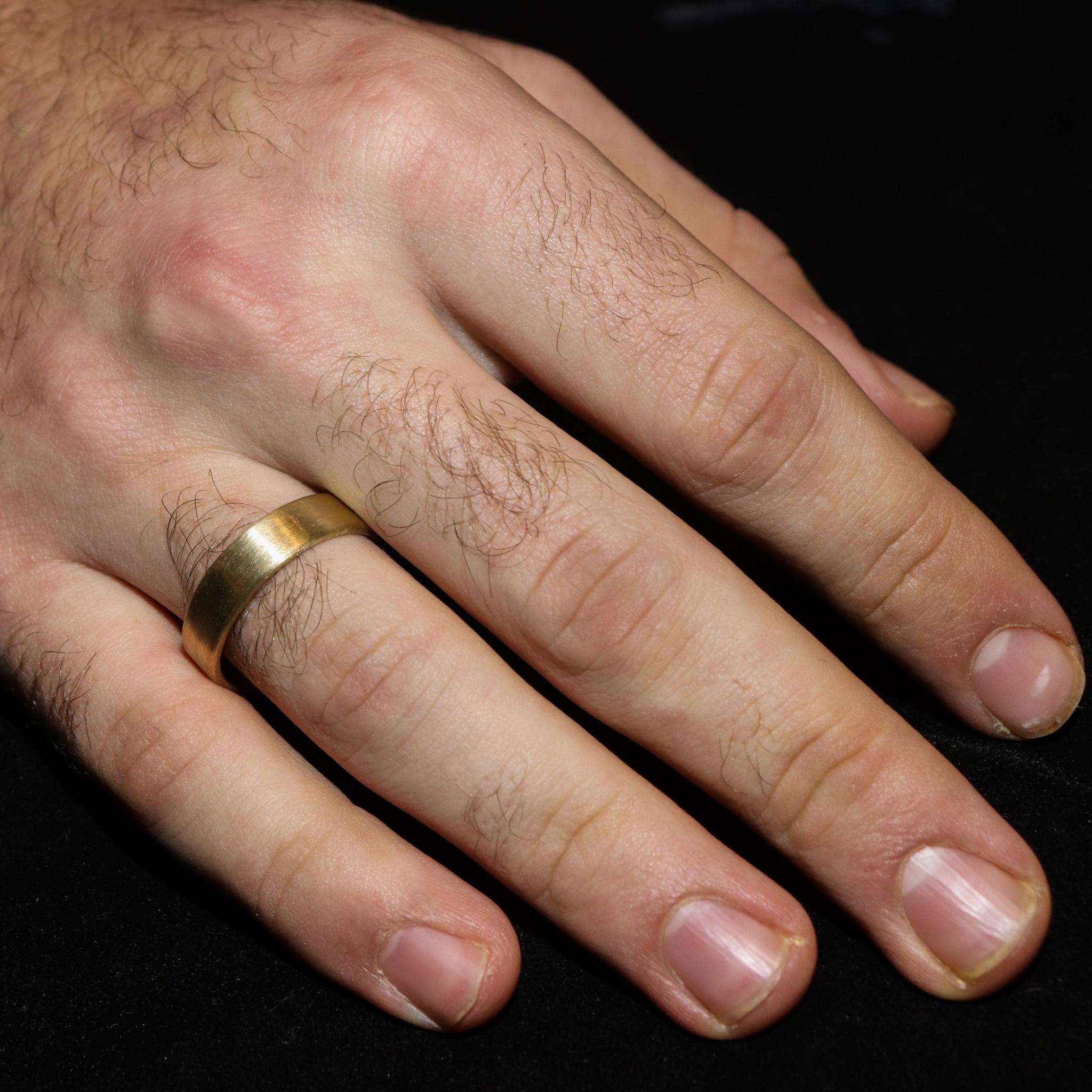 14K Gouden ring VLAK-4