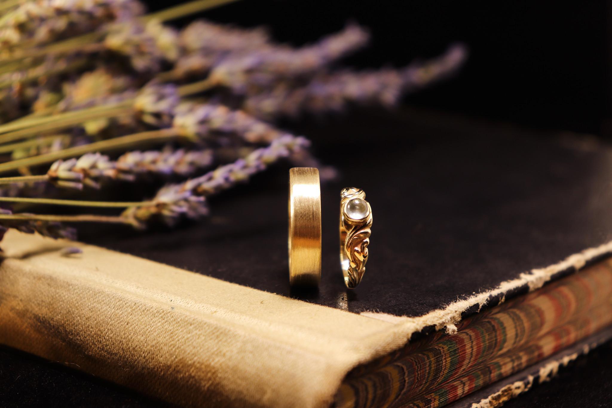 14K Gouden ring VLAK-3