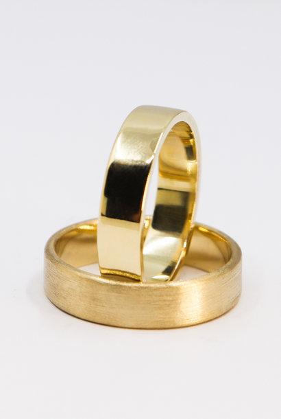 14K Gouden ring VLAK