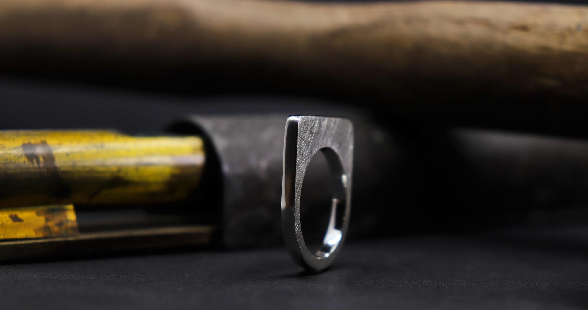 Ring SOBER, zilver-4