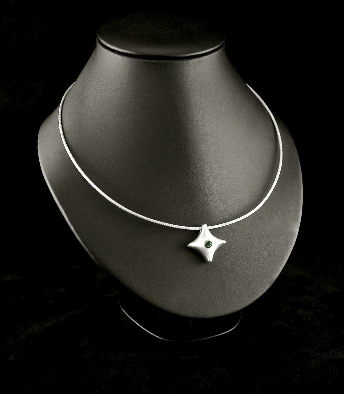 (As)hanger TWINKEL, goud met Smaragd-3