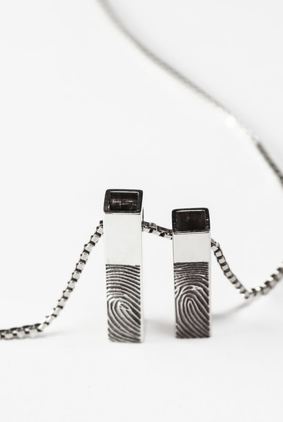 Zilveren hanger VOORGOED - Vingerafdruk