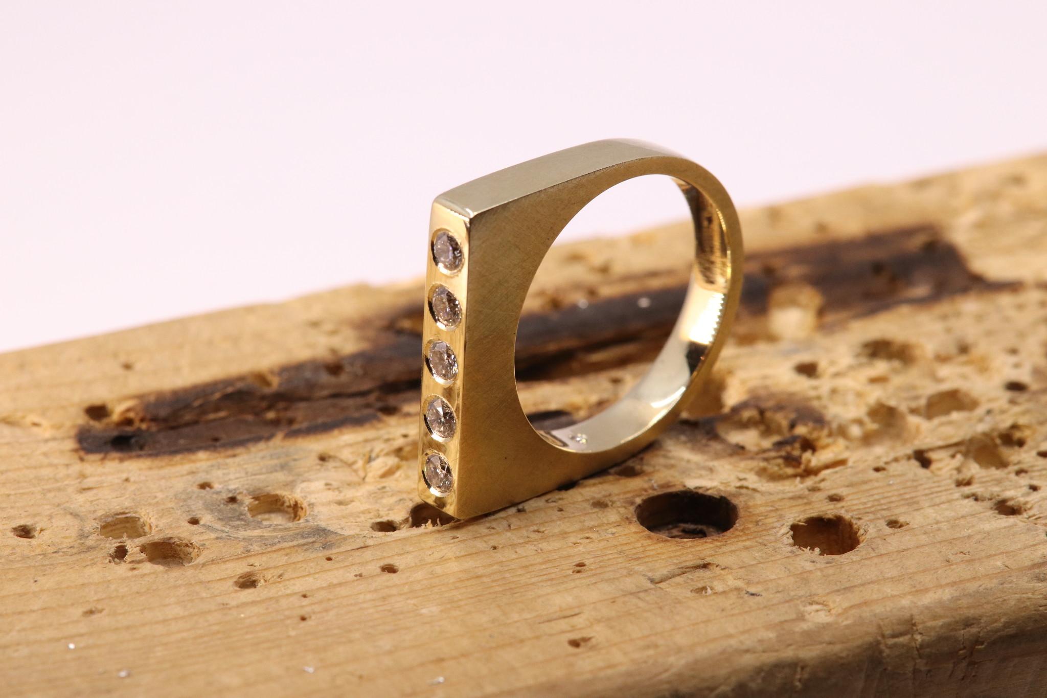 Ring SOBER, goud-3