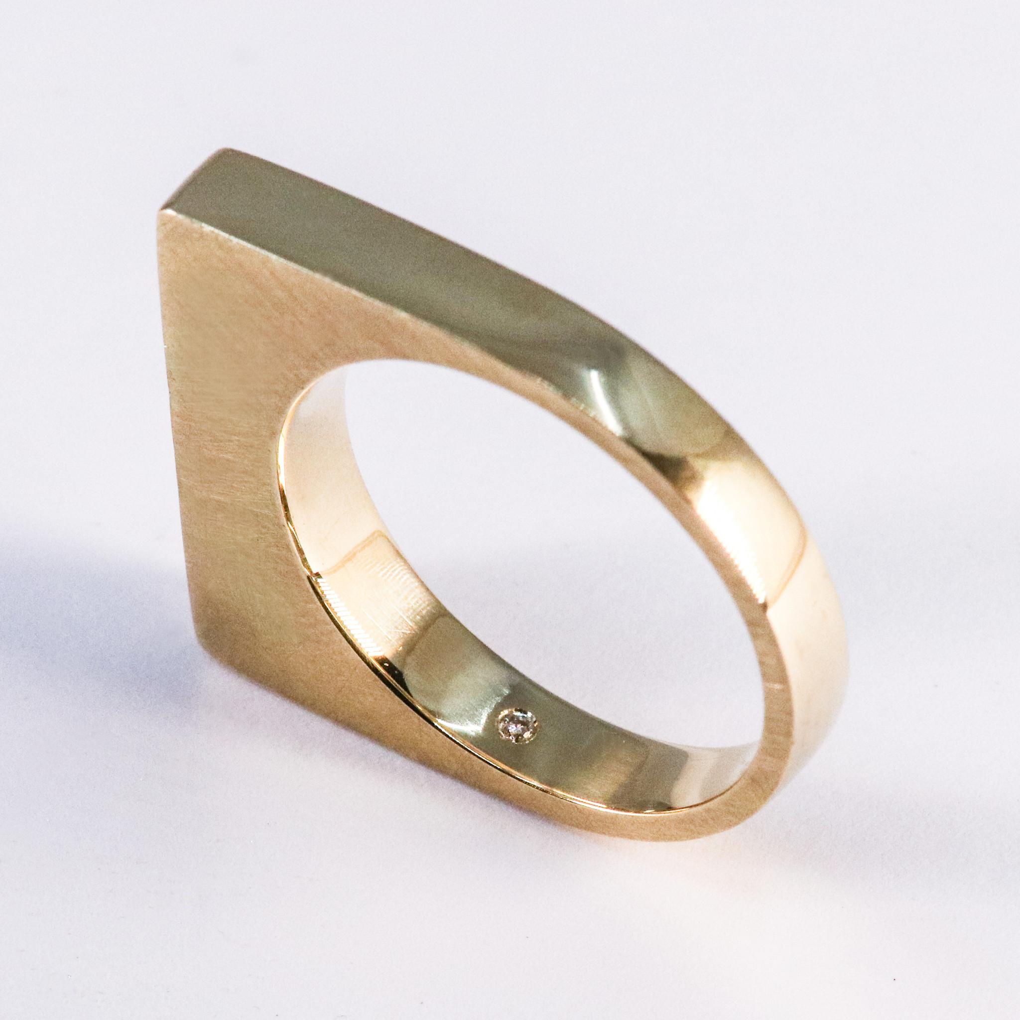 Ring SOBER, goud-5