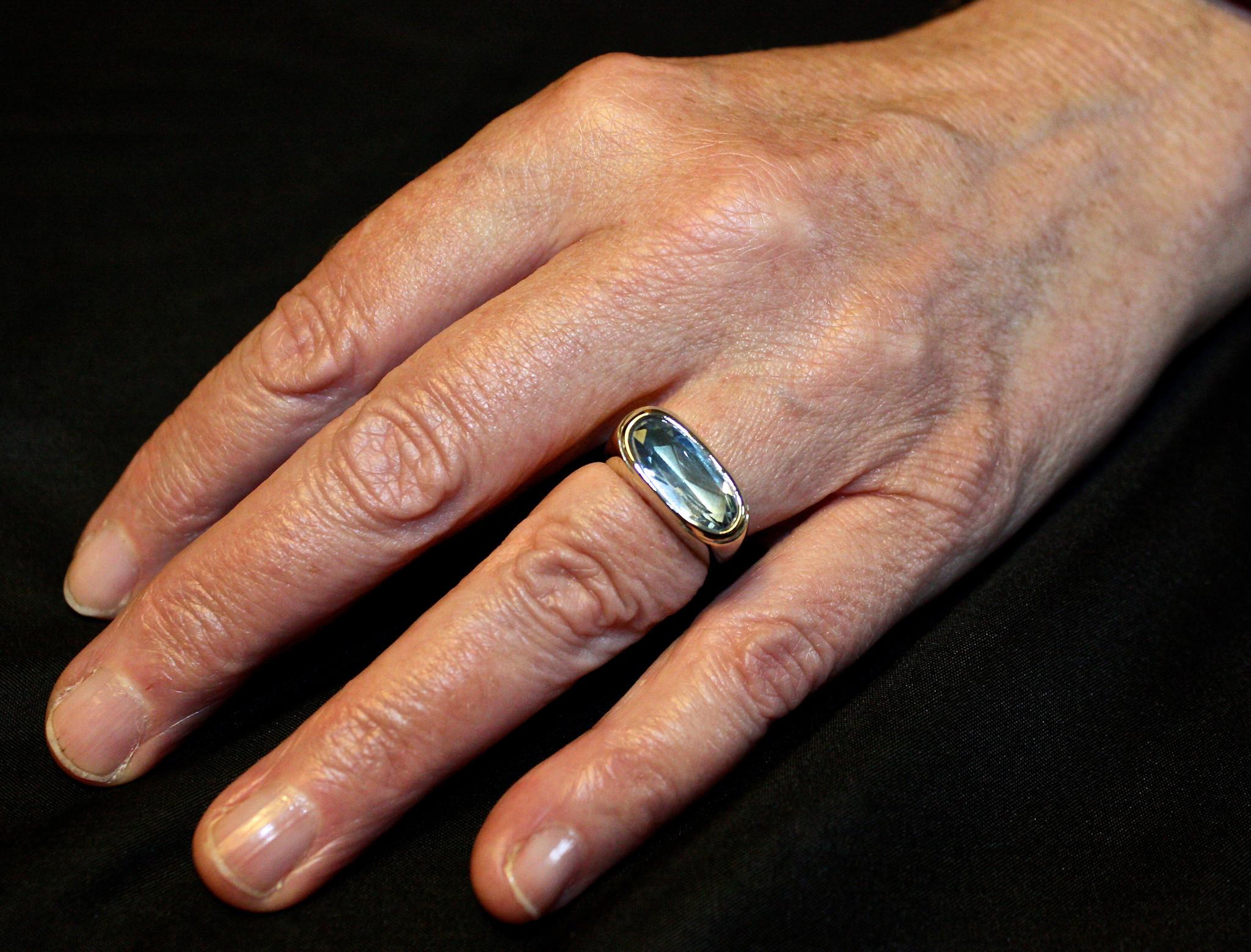 (As)ring GEM, zilver met  Aquamarijn-6