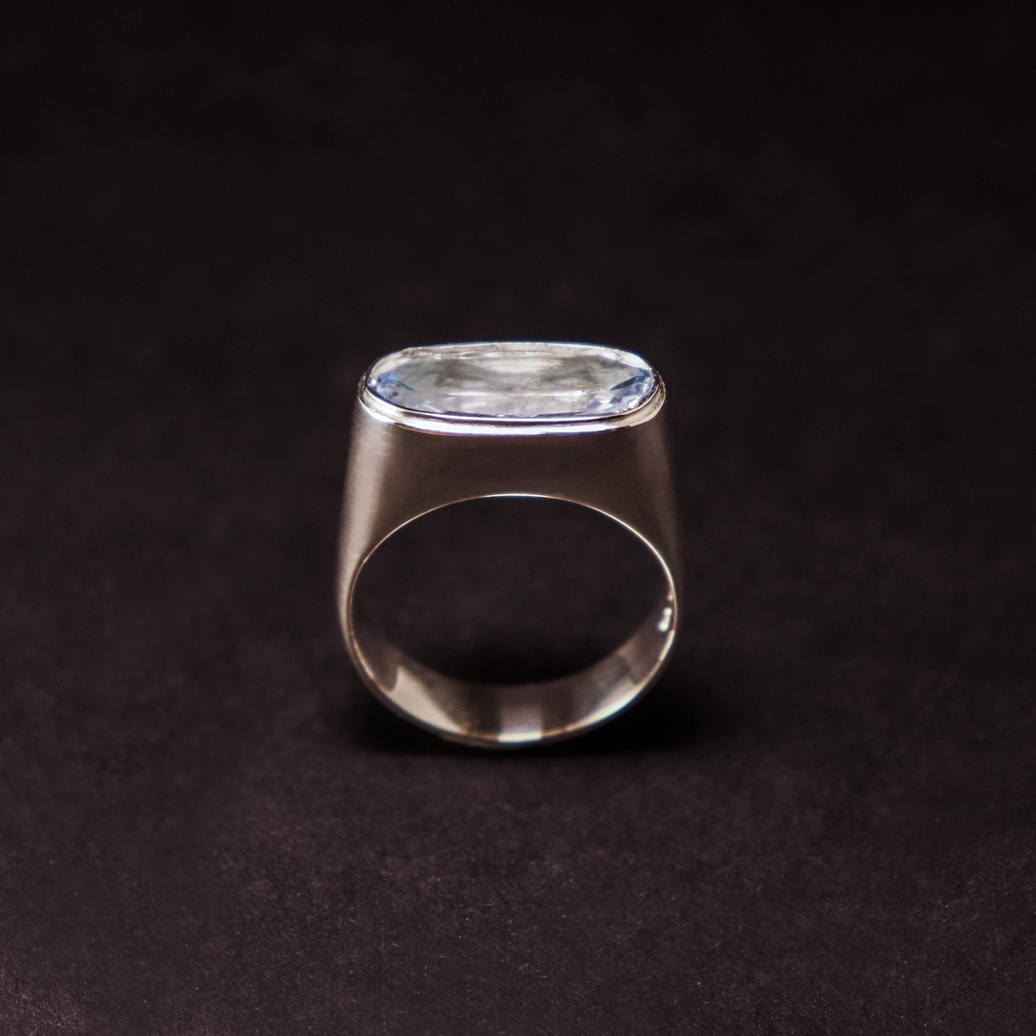 (As)ring GEM, goud met aquamarijn-3