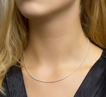 Collier SLANG, witgoud-2