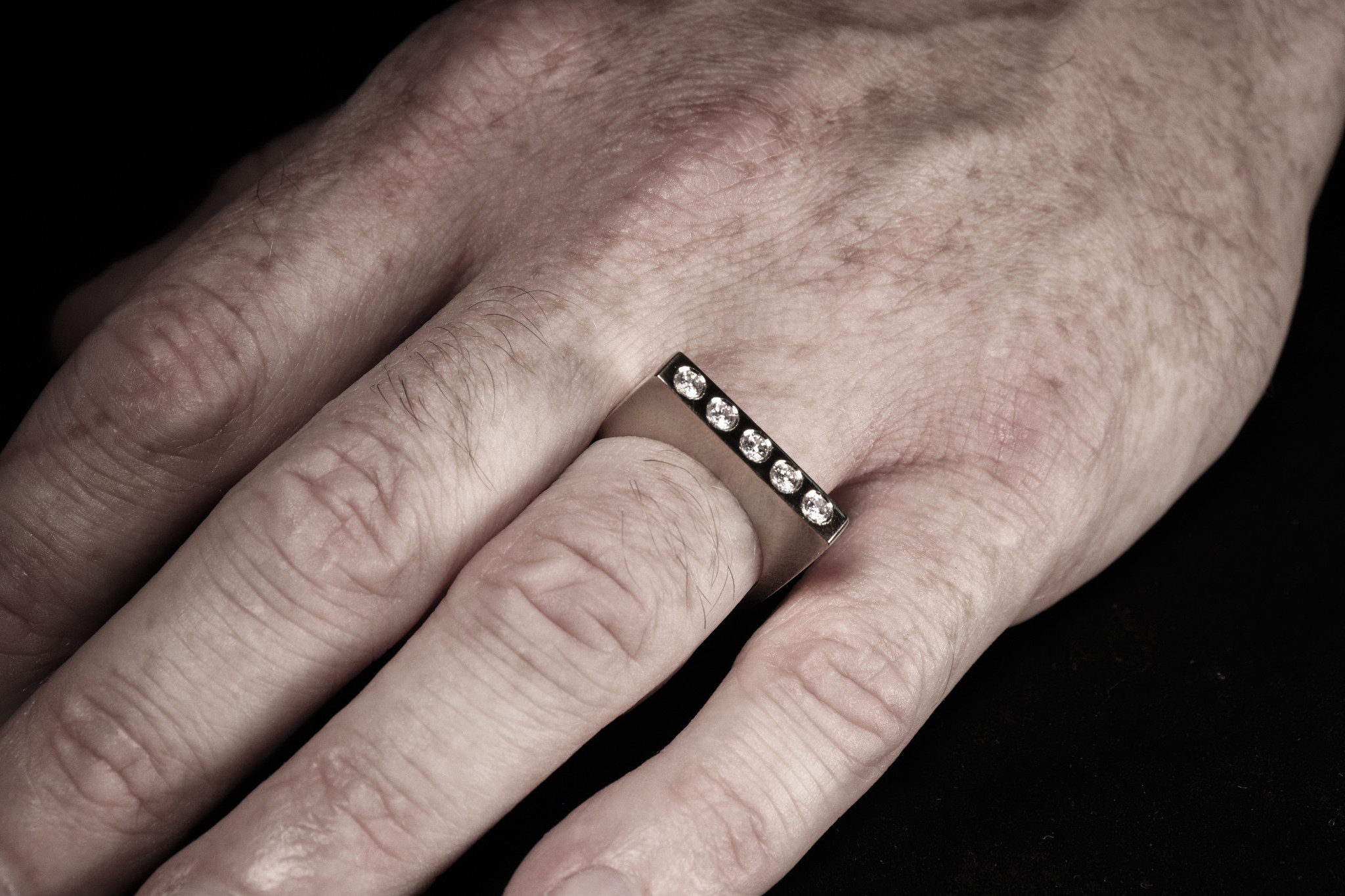 Ring SOBER, platina-5