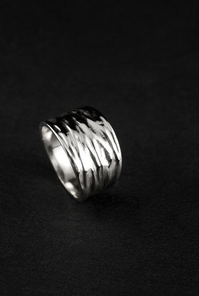 Ring KREUKEL, zilver