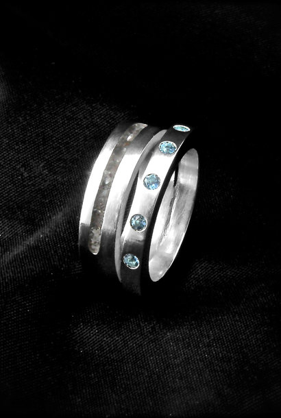 (As)ring LIEFDES, zilver