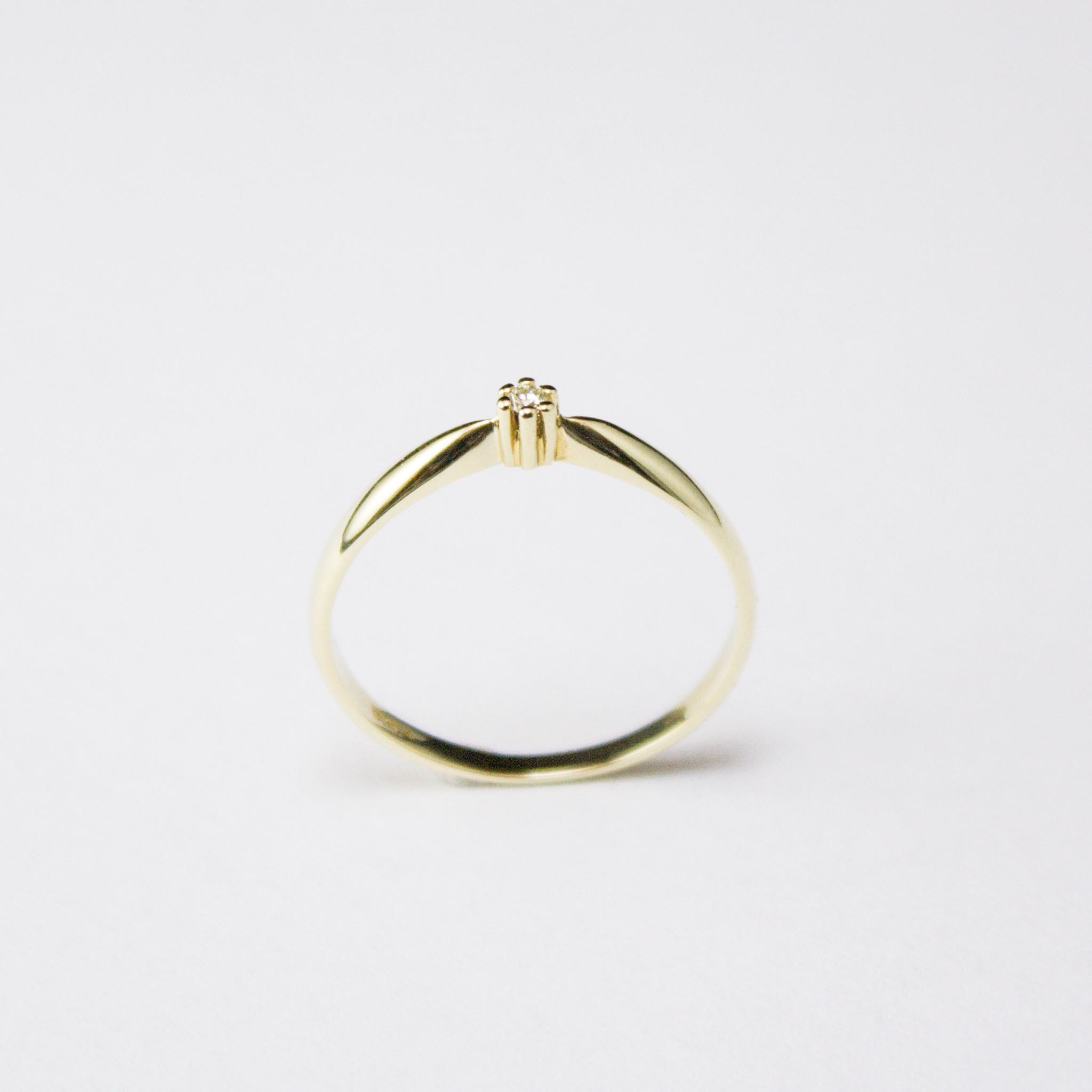 Ring SOLITAIR, goud met diamant-2