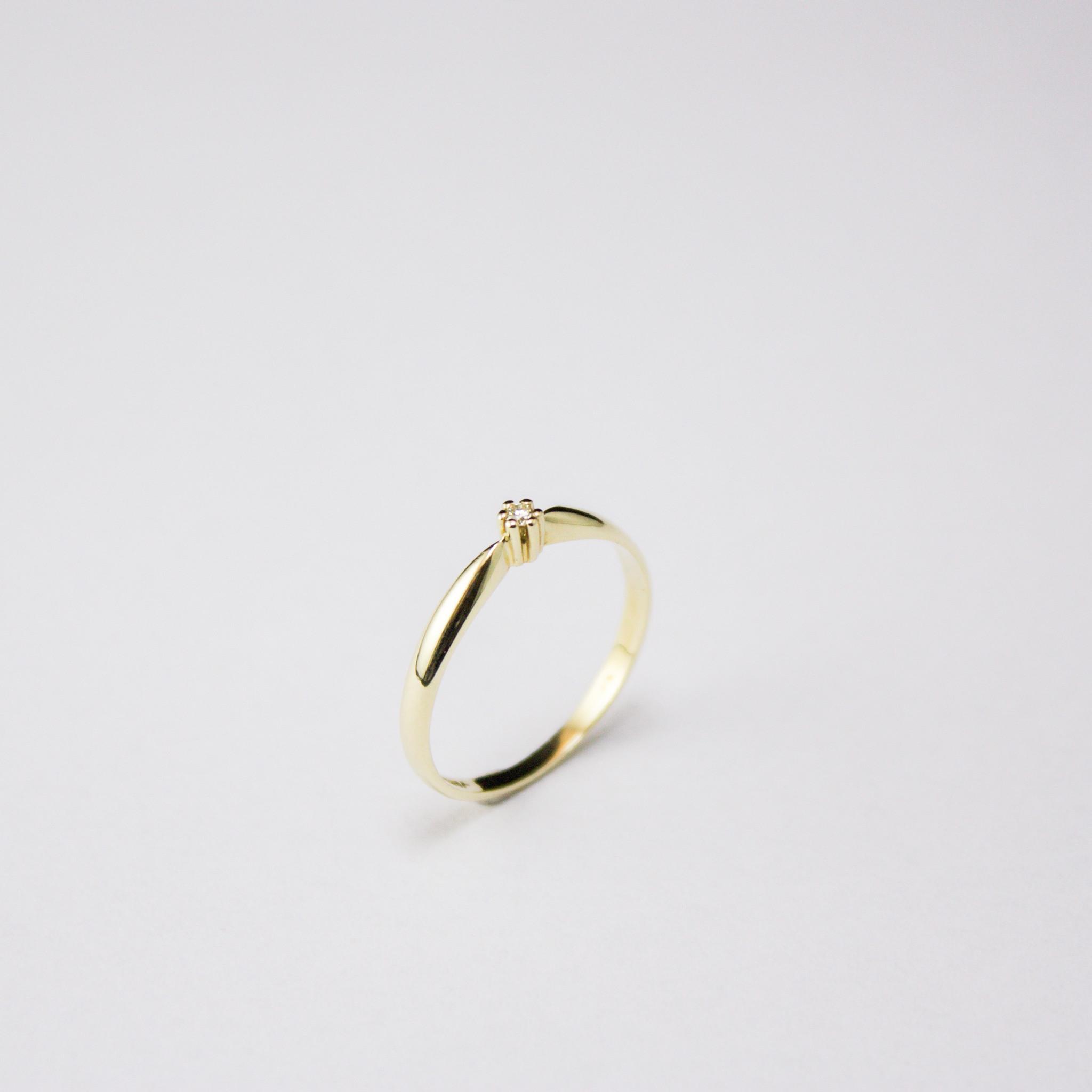 Ring SOLITAIR, goud met diamant-1
