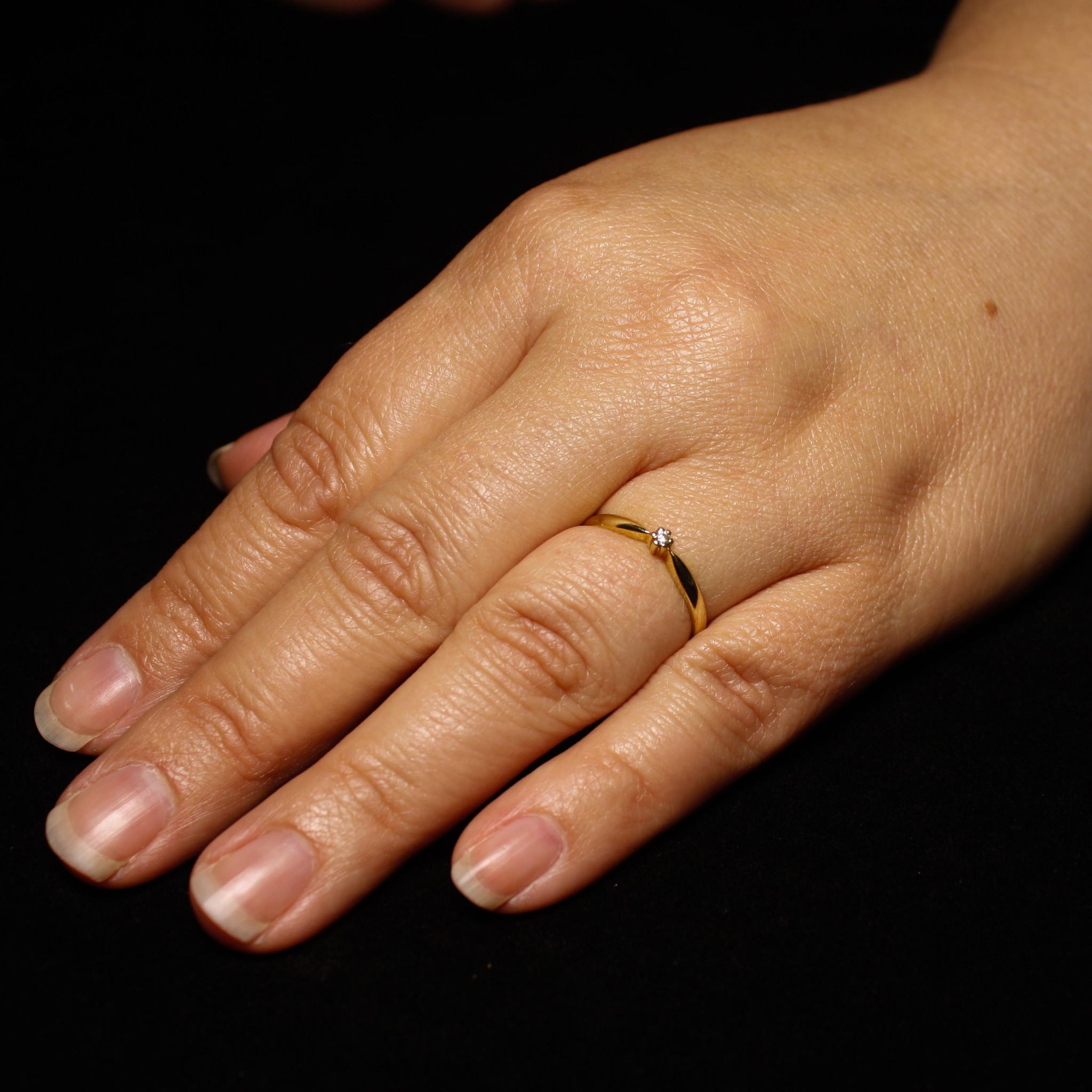 Ring SOLITAIR, goud met diamant-4