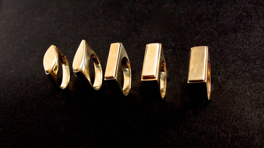 (As)ring MARKIES, goud-5