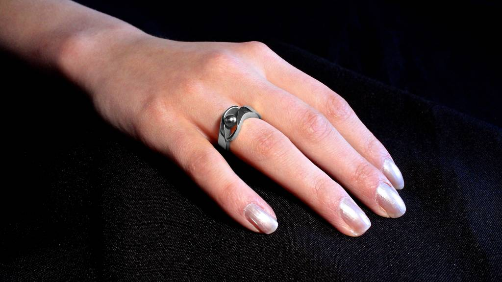 (As)ring OMARMING, zilver-2