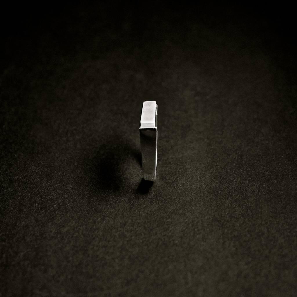 (As)ring RECHTHOEK smal, zilver-3
