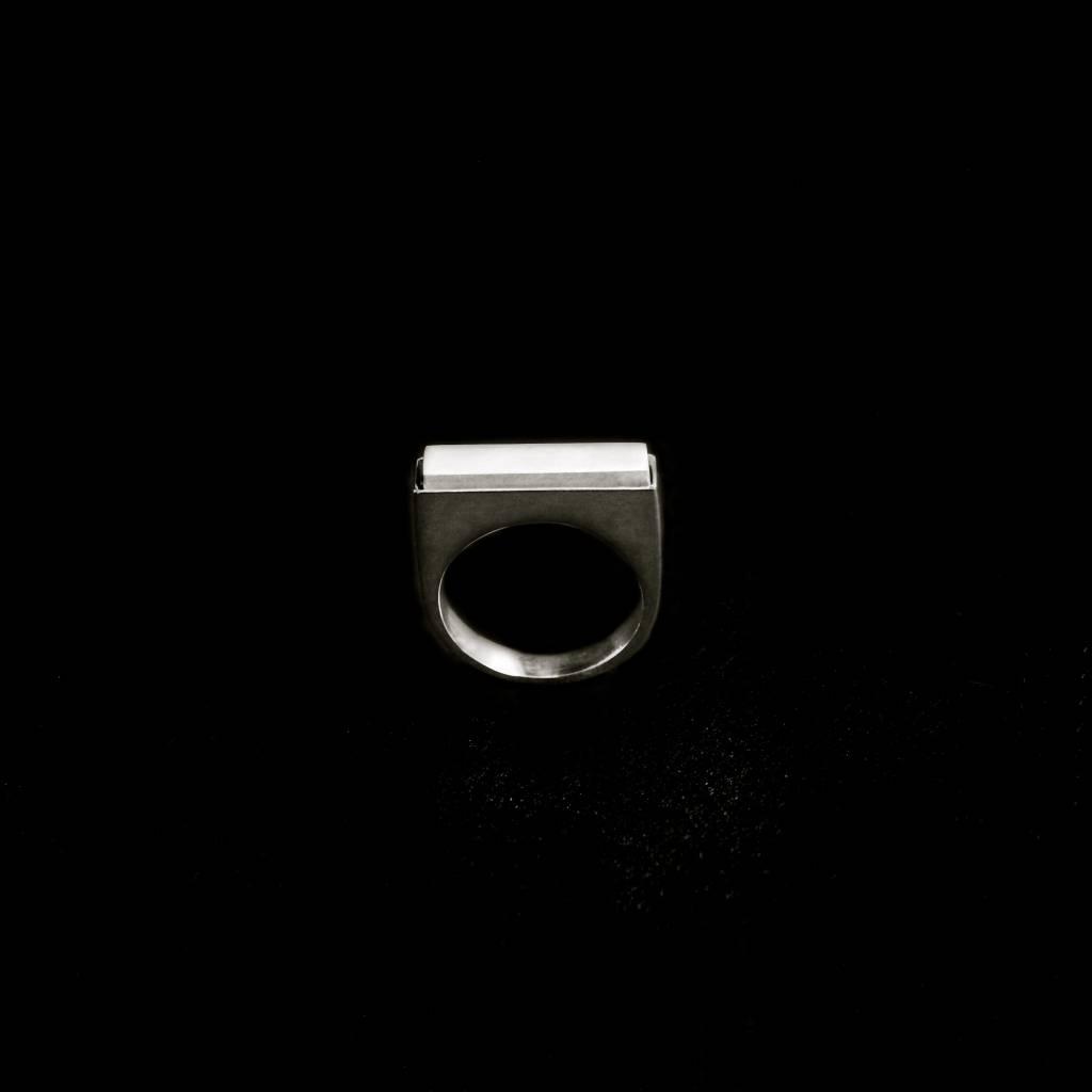 (As)ring RECHTHOEK smal, zilver-4