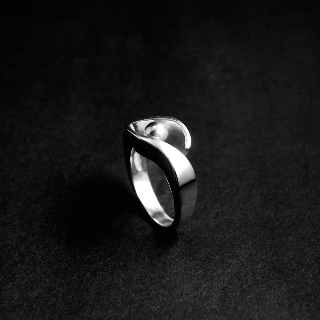(As)ring OMARMING, zilver-1