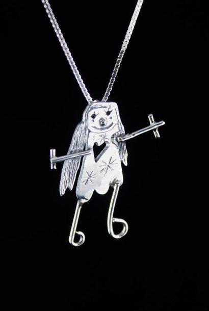 Hanger KIND, zilver