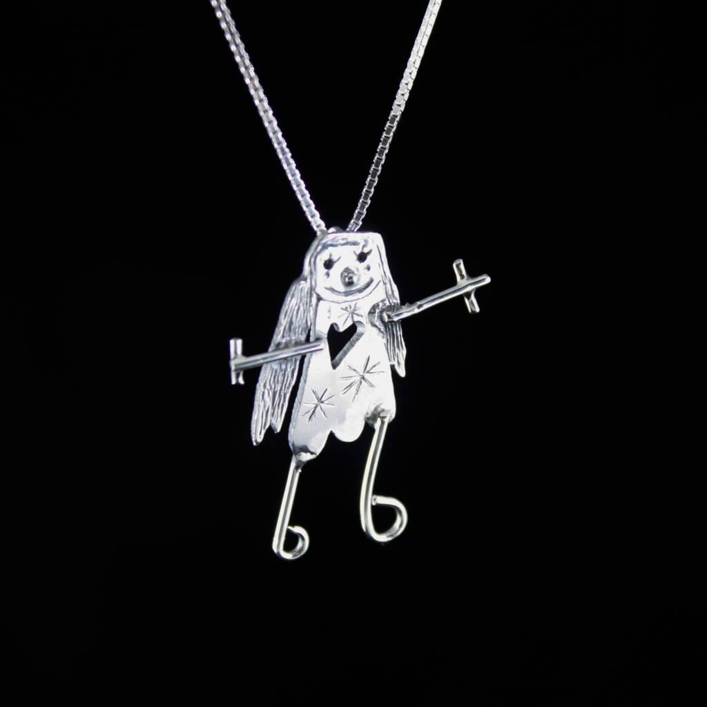 Hanger KIND, zilver-1