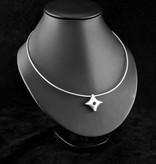 MARGRIET JEWELS Zilveren ashanger TWINKEL - Saffier