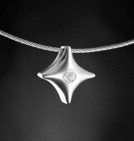 MARGRIET JEWELS Zilveren ashanger TWINKEL - Moissanite