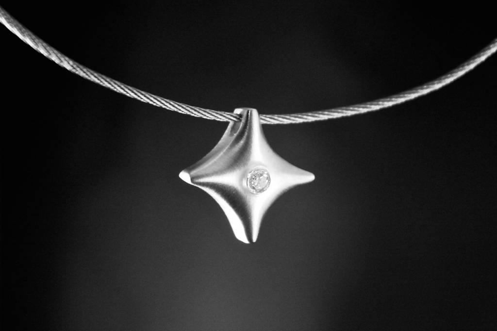 (As)hanger TWINKEL, zilver met LAB grown Diamant-1