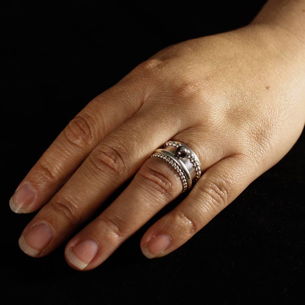 Ring PAREL zwart, zilver-3