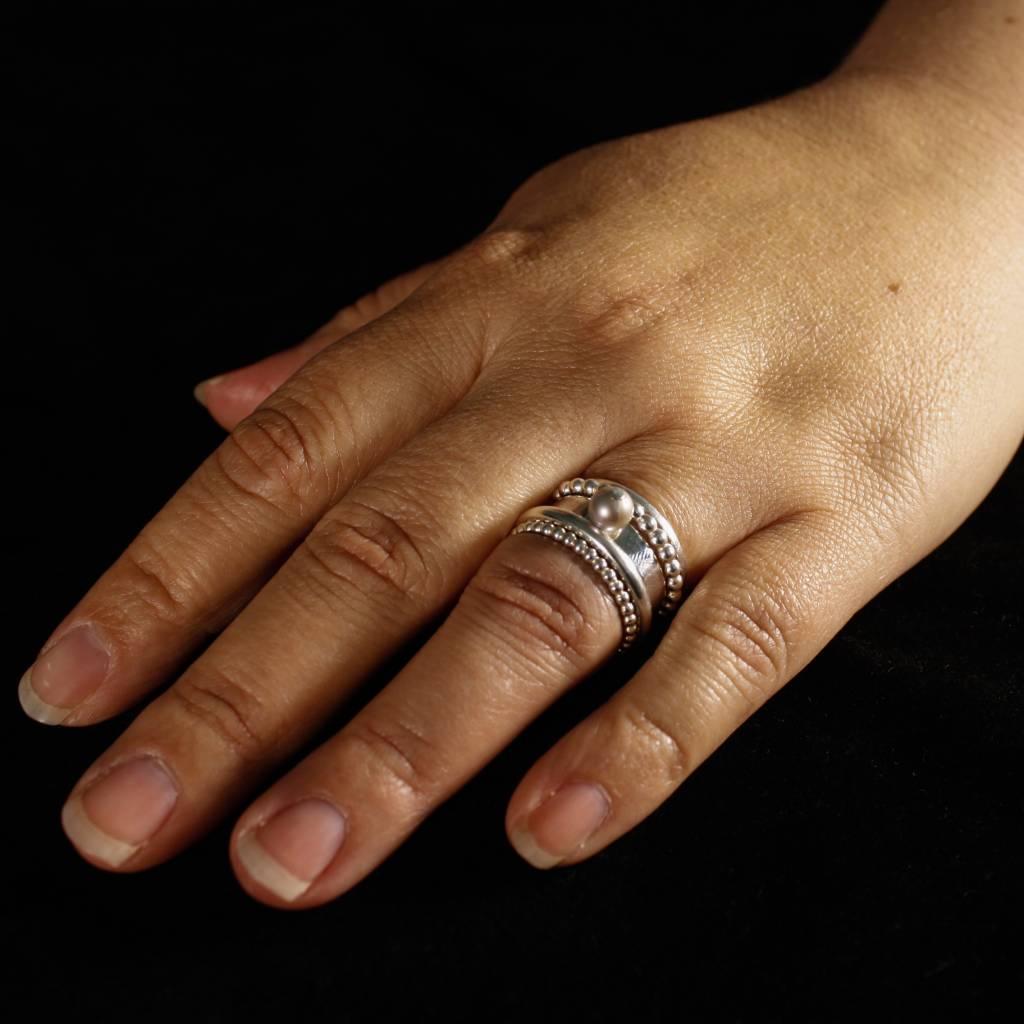Ring PAREL grijs, zilver-3