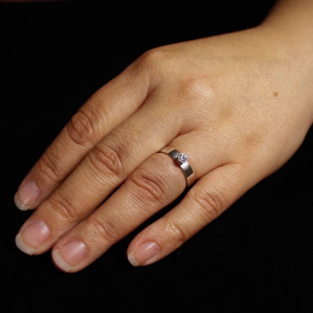 Ring WARE LIEFDE, zilver met LAB grown Diamant-2