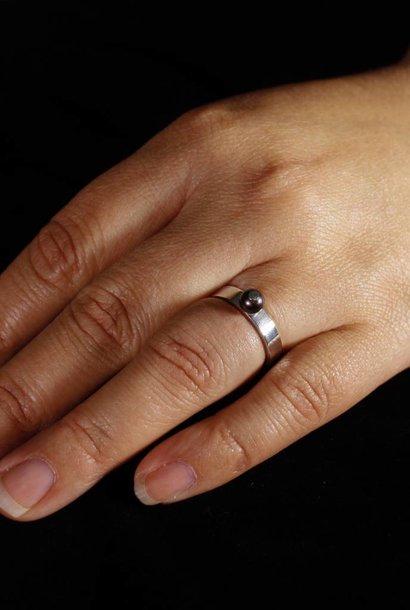 Ring PAREL  zwart, zilver