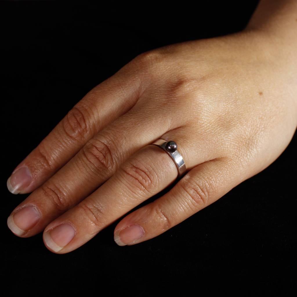 Ring PAREL zwart, zilver-1