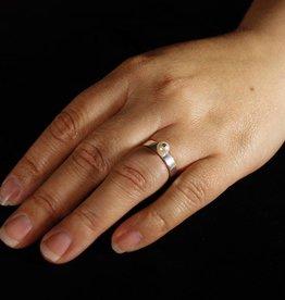 Zilveren damesring PAREL - Wit