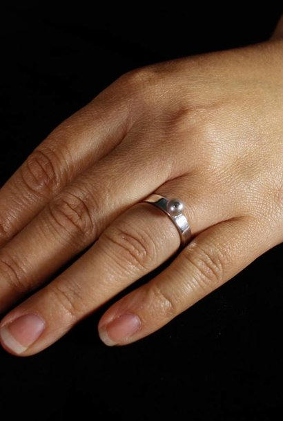 Ring PAREL grijs, zilver