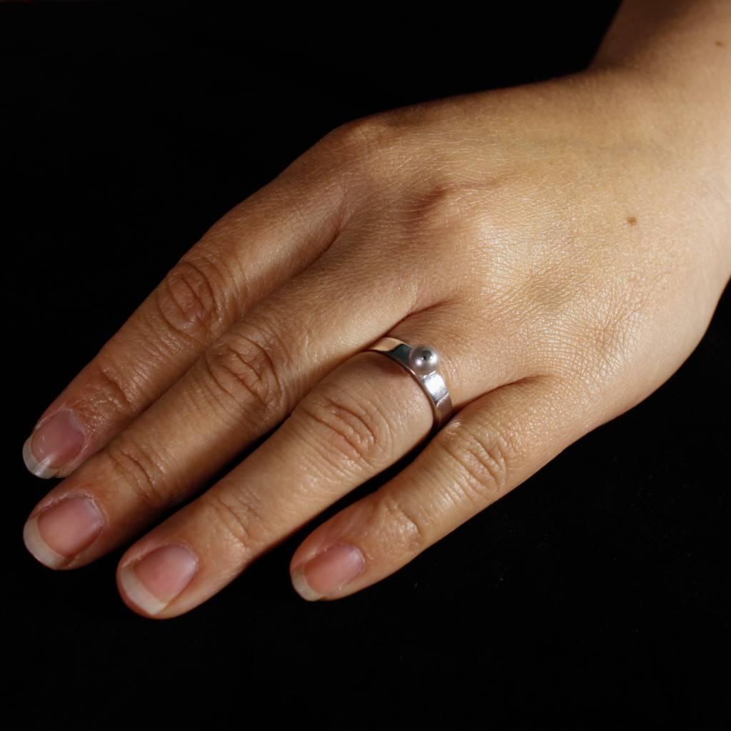 Ring PAREL grijs, zilver-1