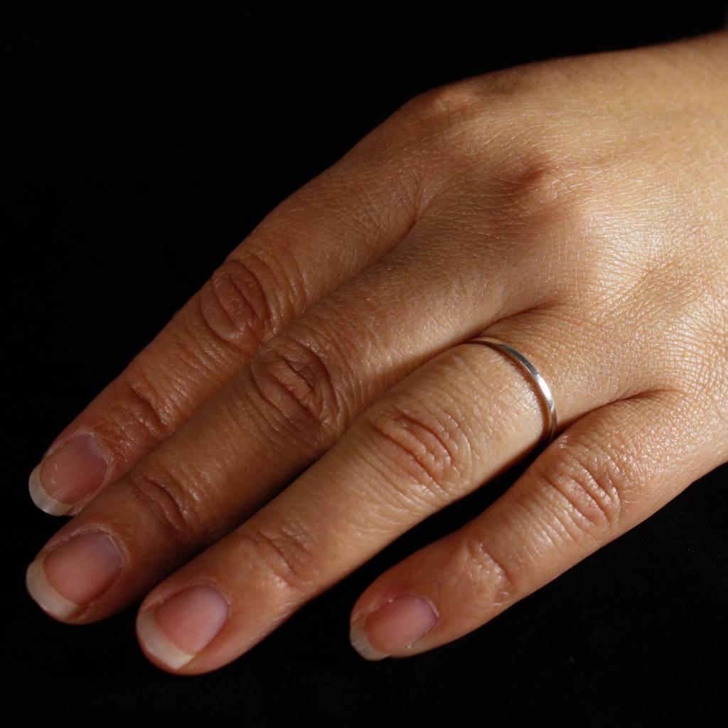 Ring TULP, zilver-4