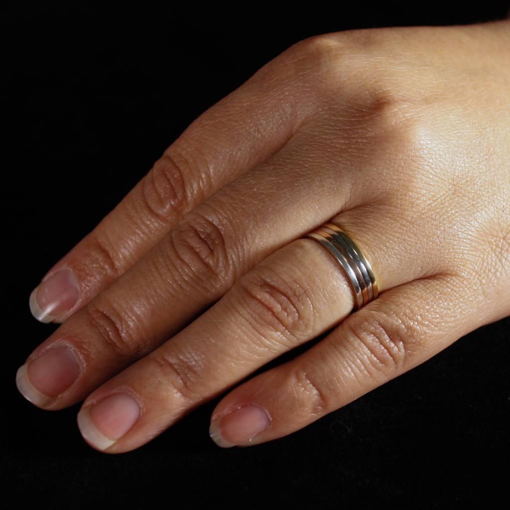 Ring TULP, zilver-1