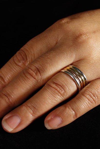 Ring ZONNEBLOEM, zilver
